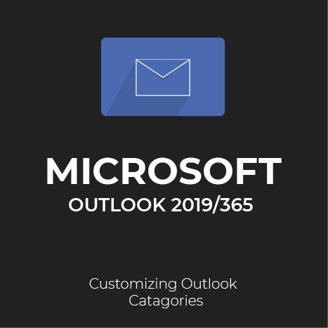 Customizing outlook categories