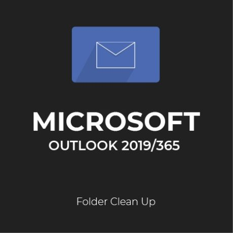 How to clean up folders in Outlook