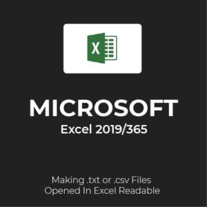MS Excel 2019/365: Text Files