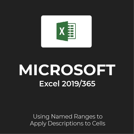 MS Excel 2019/365: Named Ranges