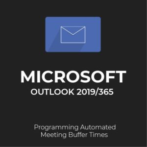 How to add buffer times to meetings in Outlook