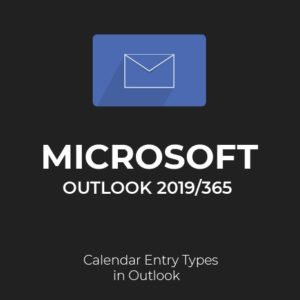 Calendar Entry types in Outlook