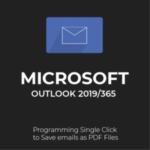 MS Outlook 2019/365: Save email as PDF